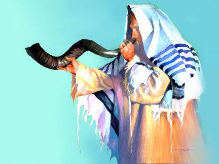 shofar-blower-talit
